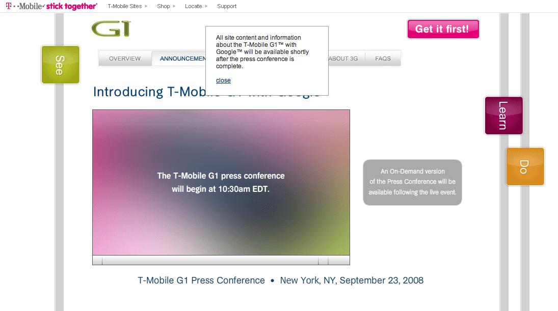 T-mobileg1.com est en ligne !