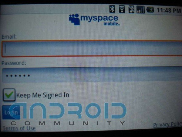 MySpace Mobile sur Android