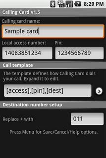 Android Calling Card, pour gérer ses cartes téléphoniques