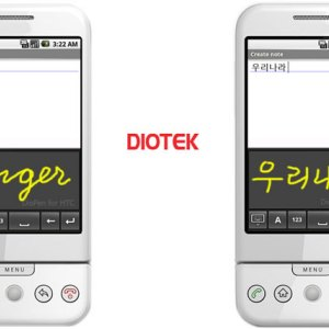 Diotek : l'écriture manuscrite (handwriting) sur Android