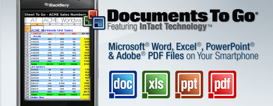 Documents to go : PowerPoint, Excel, Word, PDF sur Android