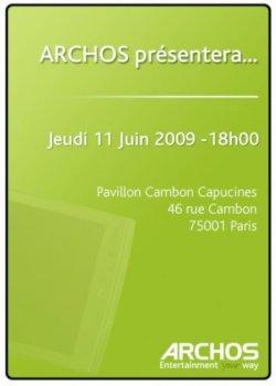 Archos présenterait sa tablette Android en juin !