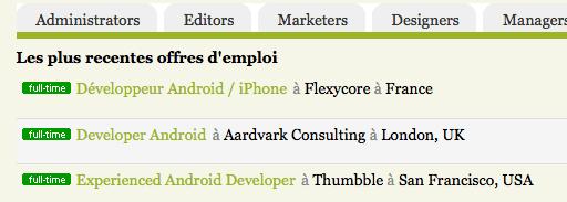 FrAndroid lance les «offres d'emploi Android»
