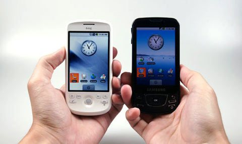 Photos : HTC Magic et Samsung Galaxy