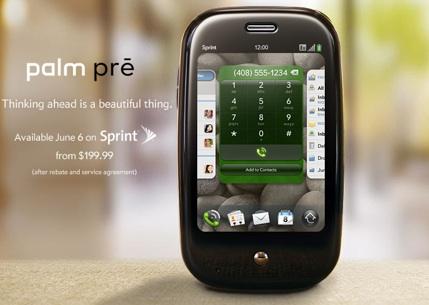 Le Palm Pré à 199 dollars en juin