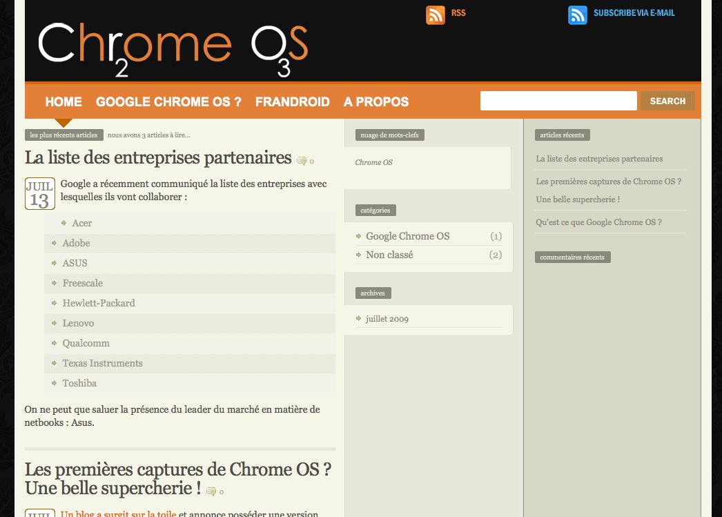 Bienvenue à Oxyde de Chrome, un nouveau site dédié à Google Chrome OS