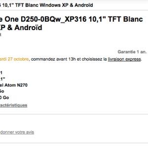Le netbook Acer Aspire One D250 sous Android disponible à partir de 246 euros