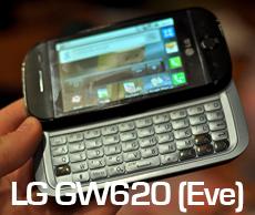 Le LG Eve ou GW620 sera mis à jour en version 1.6