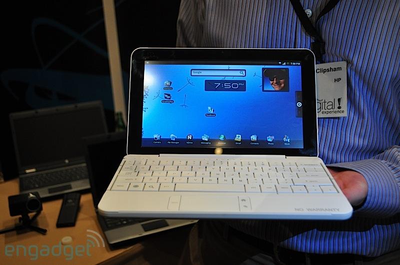 CES 2010 : HP dévoile le HP Mini, un smartbook sous Android