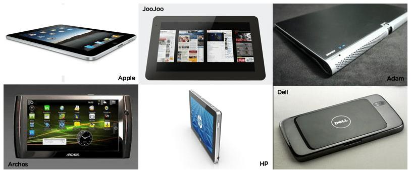 Tableau de comparaison des tablettes Android et de l'iPad