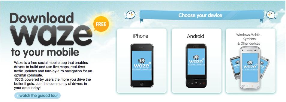 Waze : un GPS social gratuit maintenant en français