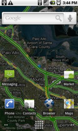 Google Maps en Live Wallpaper ?