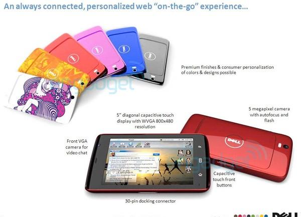 La tablette Dell Streak en plusieurs coloris avec une option de personnalisation