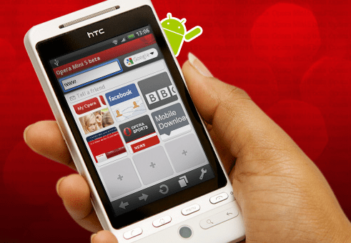 Opera Mini 5 Beta disponible sur l'Android Market