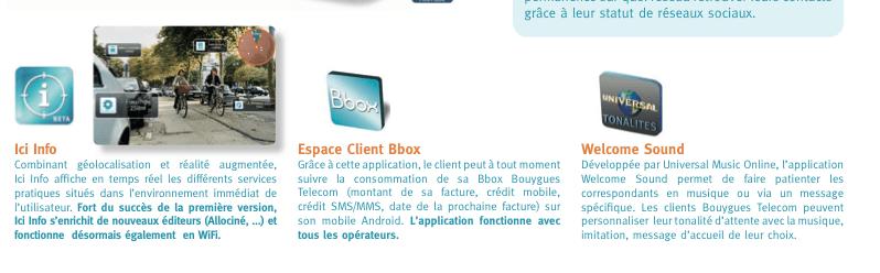 Bouygues Telecom prépare deux nouvelles applications : Welcome Sound et Espace Client Bbox