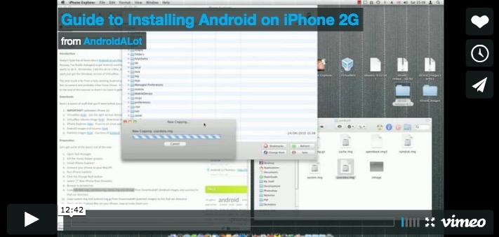 Un tutorial complet pour installer Android sur iPhone