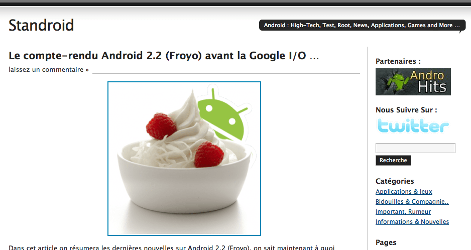 Standroid rejoint FrAndroid !