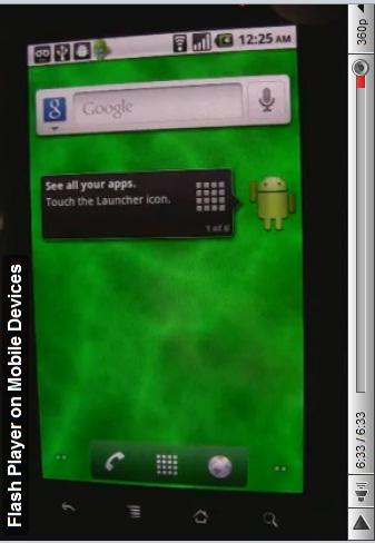 Flash et Android 2.2 dans la même vidéo