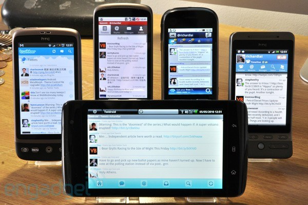Test des clients Twitter sous Android