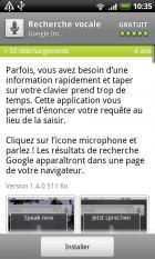La reconnaissance vocale reconnaît le français !