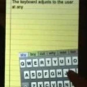 BlindType, un clavier virtuel auto-correcteur assez bluffant