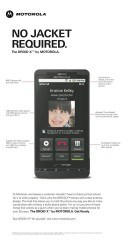 Motorola : «NO JACKET REQUIRED» !