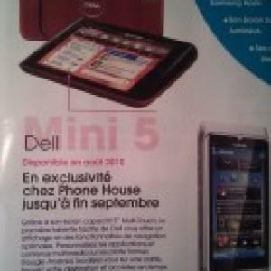 Dell Mini 5 sous Android : Bientôt chez The Phone House