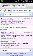 Google Mobile ne reconnaît plus Android dans ses recherches !