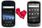 Mini comparaison des Google Nexus One et Google Nexus S