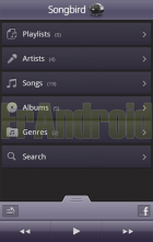 Songbird arrive en version beta sur Android