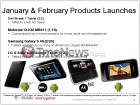 En février et mars, T-Mobile lancera les Dell Streak 7, Samsung Galaxy S 4G & LG G-Slate
