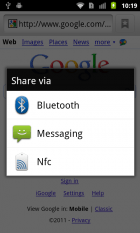 Partager des applications et fichiers avec le NFC devient possible avec le Nexus S