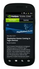 Cette année, les jeux Playstation seront également compatibles sous Nvidia Tegra 2