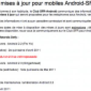 La mise à jour vers Gingerbread pour le HTC Desire HD chez SFR est repoussée à la première quinzaine de mai