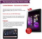 La Samsung Galaxy Tab 10.1v 3G+WiFi arrivera le 1er mai chez Vodafone Australia