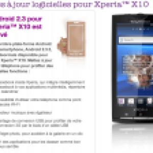 La mise à jour vers Android 2.3 pour le Sony Ericsson Xperia X10 est arrivée en Europe [MàJ]