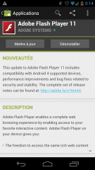 Adobe Flash Player est maintenant compatible avec Ice Cream Sandwich