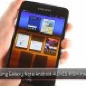 Un petit aperçu d'Android Ice Cream Sandwich sur le Galaxy Note (màj)