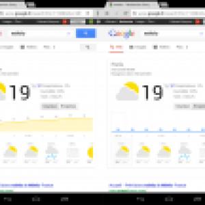Une présentation interactive de la météo sur les tablettes et sur le moteur de recherche de Google