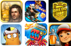 6 jeux à tester : The Bard's Tale, Rail Rush, Judge Dredd vs. Zombies, Critter Escape, Velocispider et Subway Surfers
