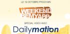 Ce Weekend, venez participer au BeMyApp spécial Dailymotion