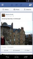 Facebook pour Android permet (presque) le partage