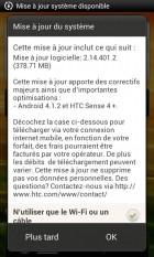 HTC One SV, Android Jelly Bean est cours de déploiement