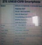 ZTE U9810, le premier smartphone avec 4 Go de RAM ?