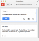 Google Keep Extension, les services de Keep dans un plugin Chrome
