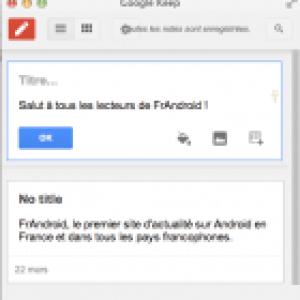 Google Keep Extension, les services de Keep dans un plugin Chrome