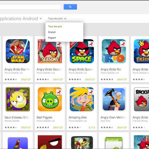 Play Store web : le filtrage des applications gratuites et payantes de retour