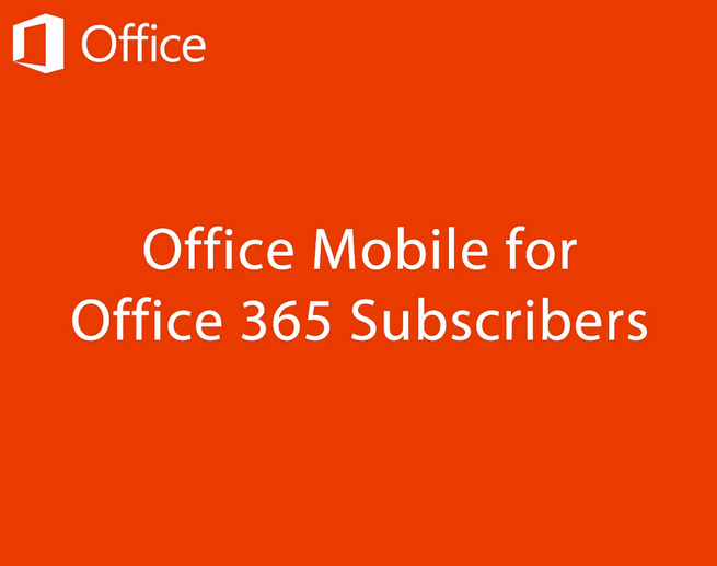 Microsoft Office Mobile disponible sur Android !
