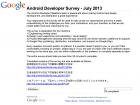 Google met en ligne son enquête «Android Developer Survey» pour les développeurs et éditeurs