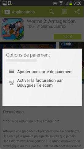 Play Store : le service de paiement sur facture est désormais disponible chez Bouygues